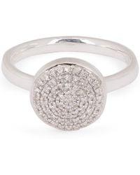 Monica Vinader - Silver Fiji Diamond Button Ring - Lyst