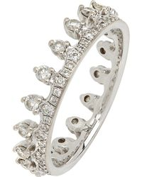Annoushka - 18ct White Gold Crown Diamond Ring - Lyst