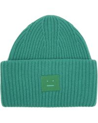 Acne Studios - Pansy Face Wool Beanie Hat - Lyst