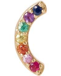 Andrea Fohrman - Gold Multi-stone Rainbow Stud Earring - Lyst