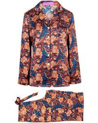 Liberty - Florence June Silk Satin Long Pyjama Set - Lyst