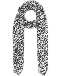 Lily and Lionel - Textured Leopard Print Silk Scarf - Lyst