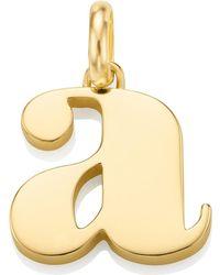 Monica Vinader - Gold-plated Alphabet Pendant A-z - Lyst