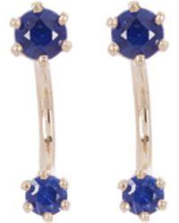 Satomi Kawakita - Gold Twin Sapphire Stud Earrings - Lyst