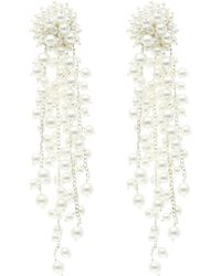 Oscar de la Renta - Runway Delicate Flower Chain Drop Clip-on Earrings - Lyst