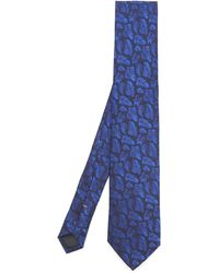 Simon Carter - West End Bracken Leaves Silk Tie - Lyst