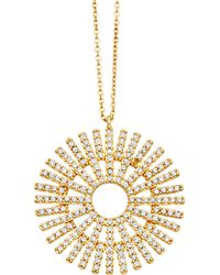 Astley Clarke | Rising Sun Large 18ct Gold Diamond Pendant | Lyst