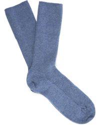 Johnstons - Cashmere Ankle Socks - Lyst