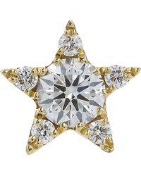 Maria Tash - 5.5mm Diamond Star Threaded Stud Earring - Lyst