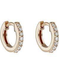 Astley Clarke - Rose Gold Mini Halo Hoop Earrings - Lyst