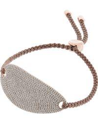 Monica Vinader - Nura Rose Gold Vermeil, Diamond And Woven Bracelet - Lyst