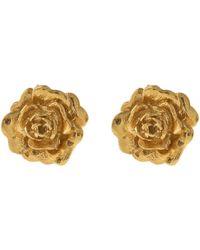 Alex Monroe - Gold-plated Rose Damasca Stud Earrings - Lyst