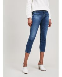 AG Jeans - Prima Crop Jeans - Lyst