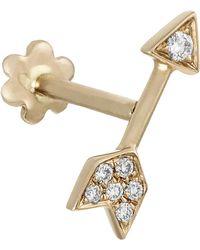 Maria Tash 10mm Diamond Arrow Threaded Stud Earring