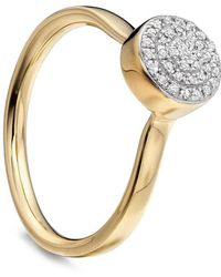 Monica Vinader - Gold Vermeil Diamond Ava Button Ring - Lyst