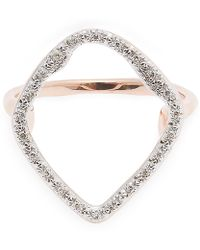 Monica Vinader - Rose Gold-plated Riva Hoop Diamond Cocktail Ring - Lyst