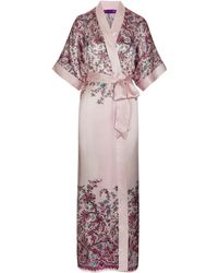Liberty - Florence Patricia Silk Satin Long Kimono - Lyst
