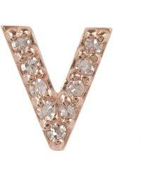 KC Designs - Diamond V Single Stud Earring - Lyst