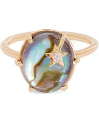 Andrea Fohrman - Gold Mini Mother-of-pearl Galaxy Star Ring - Lyst