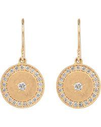 Andrea Fohrman - Gold Full Moon Diamond Phases Earrings - Lyst