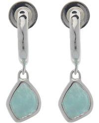 Monica Vinader - Silver Siren Amazonite Mini Nugget Drop Earrings - Lyst