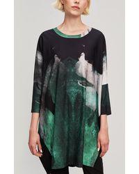 Crea Concept - Long Sleeve Scoop Neck Tunic Dress - Lyst