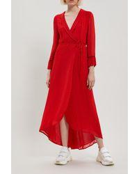 Ganni - Mullen Georgette Wrap-dress - Lyst
