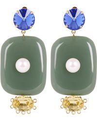 Marni - Oversized Pendant Earrings - Lyst