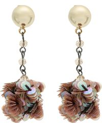 Lulu Frost - Gold-plated Rumba Sequin Drop Earrings - Lyst