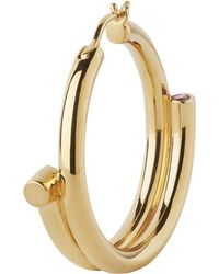 Maria Black - Gold-plated Genie Right Hoop Earring - Lyst
