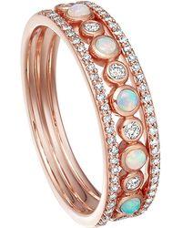 Astley Clarke - Rose Gold Triple Icon Nova Opal Ring - Lyst