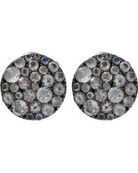 Stephen Dweck - Rainbow Moonstone Pave Stud Earrings - Lyst
