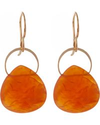 Melissa Joy Manning - Gold Botswana Agate Single Drop Earring - Lyst