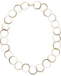 Melissa Joy Manning - Gold Half Flat Lightweight Hand Forged Chain Necklace - Lyst
