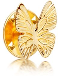 Astley Clarke - Gold-plated Butterfly Biography Pin - Lyst