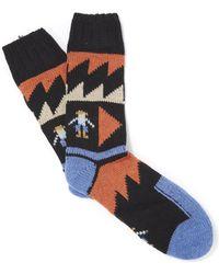 Folk - Graphic People Socks - Lyst