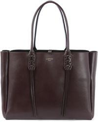 Lanvin - Nela Small Smooth Leather Shopper - Lyst