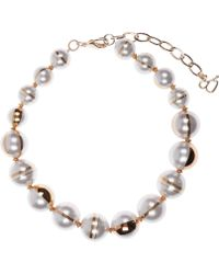Diana Broussard - Margarite Multi Pearl Necklace - Lyst
