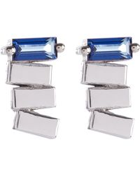 Suzanne Kalan - 14ct White Gold English Blue Topaz Earrings - Lyst