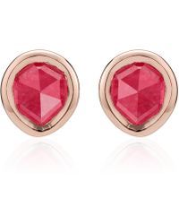 Monica Vinader - Siren Mini Stud Earrings - Lyst