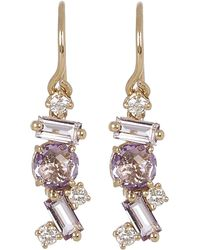 Suzanne Kalan - Gold Rose De France Diamond Drop Earrings - Lyst