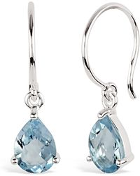 Dinny Hall - Silver Gem Drops Blue Topaz Drop Earrings - Lyst