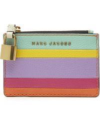 Marc Jacobs - The Grind Colour-blocked Stripe Zip Wallet - Lyst