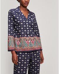 Liberty Persia Tana Lawntm Cotton Pyjama Set - Blue