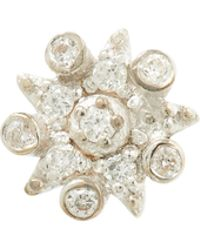 Kismet by Milka - Rose Gold Eclectic Star Small Single White Diamond Earring - Lyst