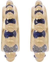 Polly Wales - Gold Nova Blue Sapphire Pinched Ear Cuffs - Lyst