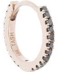 "Maria Tash - 1/4"" Black Diamond Eternity Hoop Earring - Lyst"