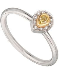 Kojis - Gold And Platinum Diamond Solitaire Ring - Lyst