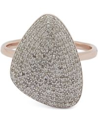 Monica Vinader - Rose Gold-plated Nura Teardrop Diamond Ring - Lyst