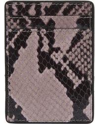 Dries Van Noten - Leather Snake Print Card Holder - Lyst